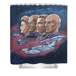 Star Trek Tribute Captains Shower Curtain