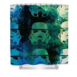 Star Warriors Watercolor 1 Shower Curtain