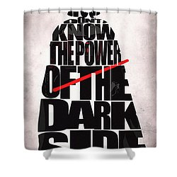 Star Wars Inspired Darth Vader Artwork Shower Curtain