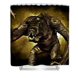 Star Wars Rancor Monster Shower Curtain by Nicholas  Grunas