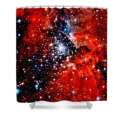 Starburst Cluster Shower Curtain by Benjamin Yeager