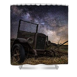 Stardust And  Rust Shower Curtain