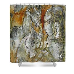 Stare Shower Curtain by Floria Varnoos
