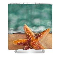 Starfish  Shower Curtain by Christine Fournier