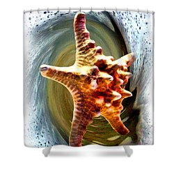 Shower Curtain featuring the digital art Starfish by Daniel Janda