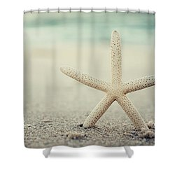 Starfish On Beach Vintage Seaside New Jersey  Shower Curtain