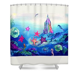 Starfish Play Shower Curtain