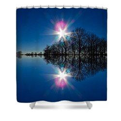 Starflection Shower Curtain by Nick Kirby