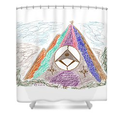 Stargate Shower Curtain by Mark David Gerson