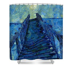 Stargate Stairs Shower Curtain by Dan Sproul