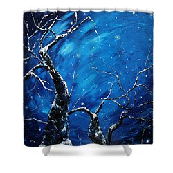 Stargazer Shower Curtain by Meaghan Troup