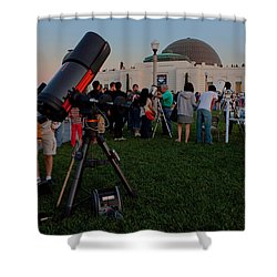 Stargazers At Dusk - Griffith Observatory Los Angeles California Shower Curtain