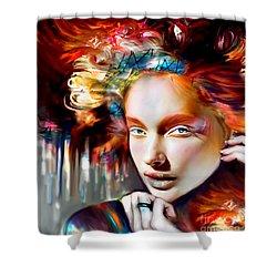 Stargirl I Bleed Color Shower Curtain