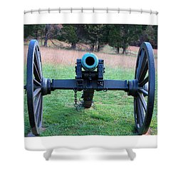 Staring Down The Barrel Shower Curtain