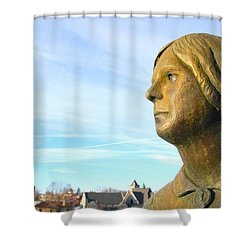 Staring Statue Shower Curtain