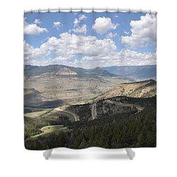 Starlight Basin Shower Curtain
