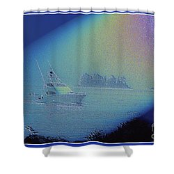 Shower Curtain featuring the digital art Starlight Cruising by Victoria Harrington