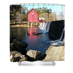 Shower Curtain featuring the photograph Starr's Mill In Senioa Georgia 2 by Donna Brown