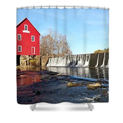 Shower Curtain featuring the photograph Starr's Mill In Senioa Georgia 3 by Donna Brown
