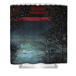 Starry Night Shower Curtain by Anil Nene