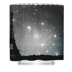 Starry Night In Paris - Eiffel Tower Photography  Shower Curtain