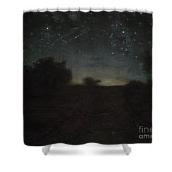 Starry Night Shower Curtain by Jean-Francois Millet