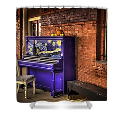 Shower Curtain featuring the photograph Starry Night Piano by David Morefield