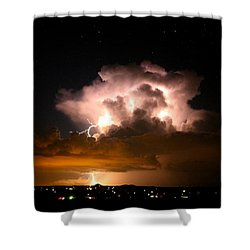 Starry Thundercloud Shower Curtain
