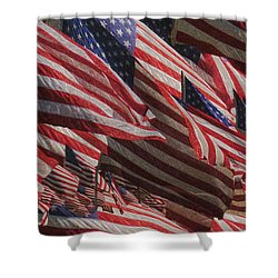 Stars And Stripes - Remembering Shower Curtain by Jack Zulli