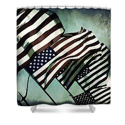 Stars N  Stripes Shower Curtain by Trish Mistric