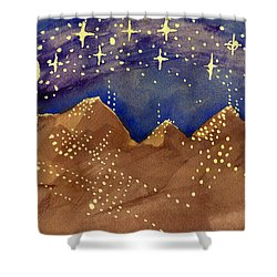 Stars Of Heaven And Earth Shower Curtain