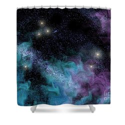 Starscape Nebula Shower Curtain