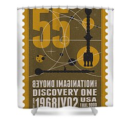 Starschips 55-poststamp -discovery One Shower Curtain