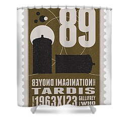 Starschips 89-bonus-poststamp - Dr Who - Tardis Shower Curtain