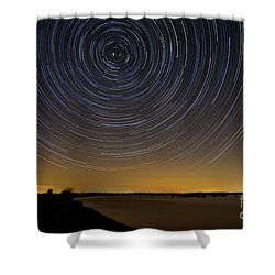 Startrails 3 Shower Curtain by Benjamin Reed
