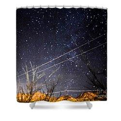Stars Drunk On Lightpaint Shower Curtain