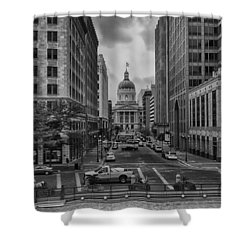 Shower Curtain featuring the photograph State Capitol Building by Howard Salmon