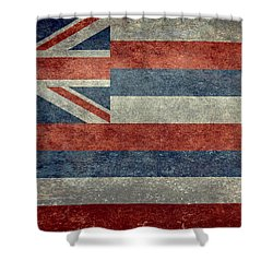 State Flag Of Hawaii Vintage Version Shower Curtain