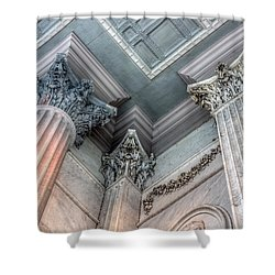 State House Exterior Columns Shower Curtain