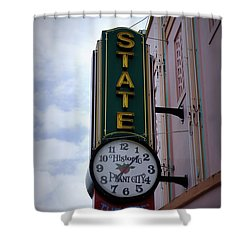 State Theatre Sign Shower Curtain by Laurie Perry
