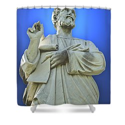 Statue 03 Shower Curtain by Thomas Woolworth