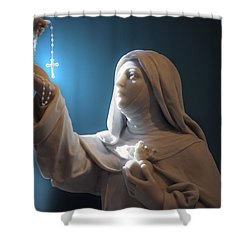 Statue 22 Shower Curtain by Thomas Woolworth