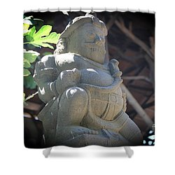 Statue In The Sun Shower Curtain