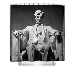 Statue Of Abraham Lincoln Shower Curtain by Panoramic Images