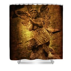 Statue Of Angel Shower Curtain by Amanda Elwell