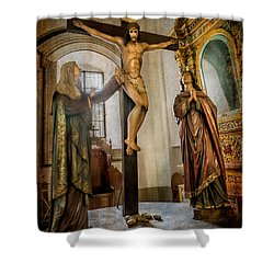 Statue Of Jesus Shower Curtain