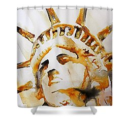 Statue Of Liberty Closeup Shower Curtain