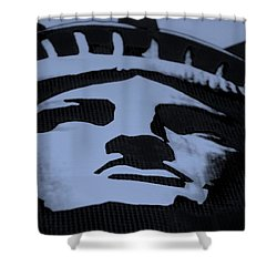 Statue Of Liberty In Dark Cyan Shower Curtain by Rob Hans