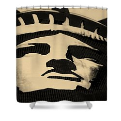 Statue Of Liberty In Dark Sepia Shower Curtain by Rob Hans