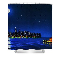 Statue Of Liberty In The Ny Horbor Shower Curtain